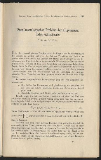 EINSTEIN (Cos Const) 1931